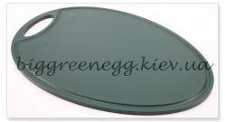 Просмоленная, овальная доска для нарезки Big Green Egg