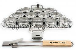 Полукруглая сетка для бургеров SSBH со съёмной ручкой для гриля Big Green Egg Large и XL