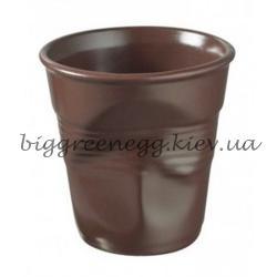 Revol Мятый стакан для cappuccino,черный сатин