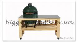 Покрытие из нержавеющей стали для стола с решёткой - Стол для Big Green Egg L